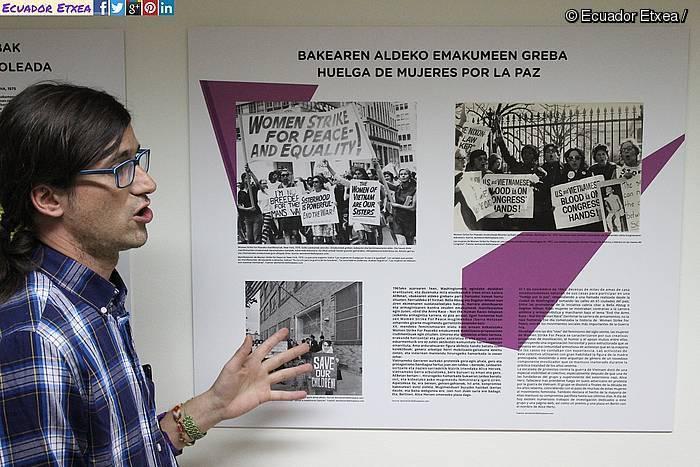 Munduko greba feministei buruzko erakusketa bat antolatu dute Basaurin