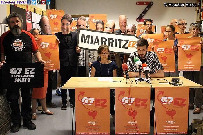 Bizkaitik ere Miarritzeko G7koen kontra mobilizatzeko deia egin dute