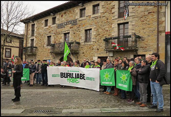 """Euskal Herri """"burujabea"""" irudikatuko dute igandean Larrabetzun"""