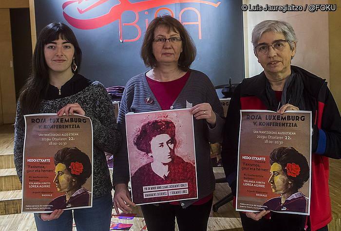 Egungo faxismoa izango du aztergai V. Rosa Luxemburg Konferentziak, gaur