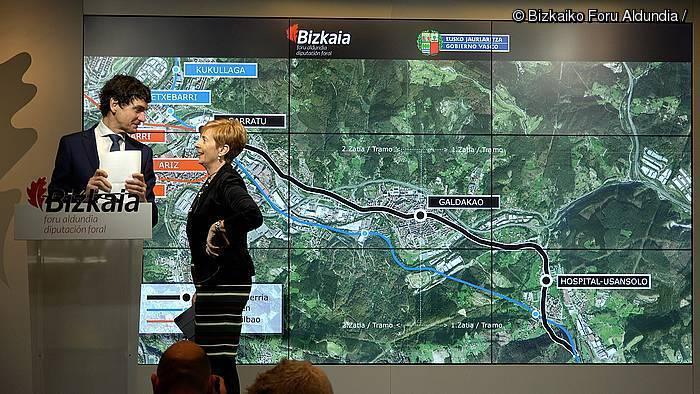 Usansoloko ospitalea eta Galdakao trenez lotuko dituzte metrora
